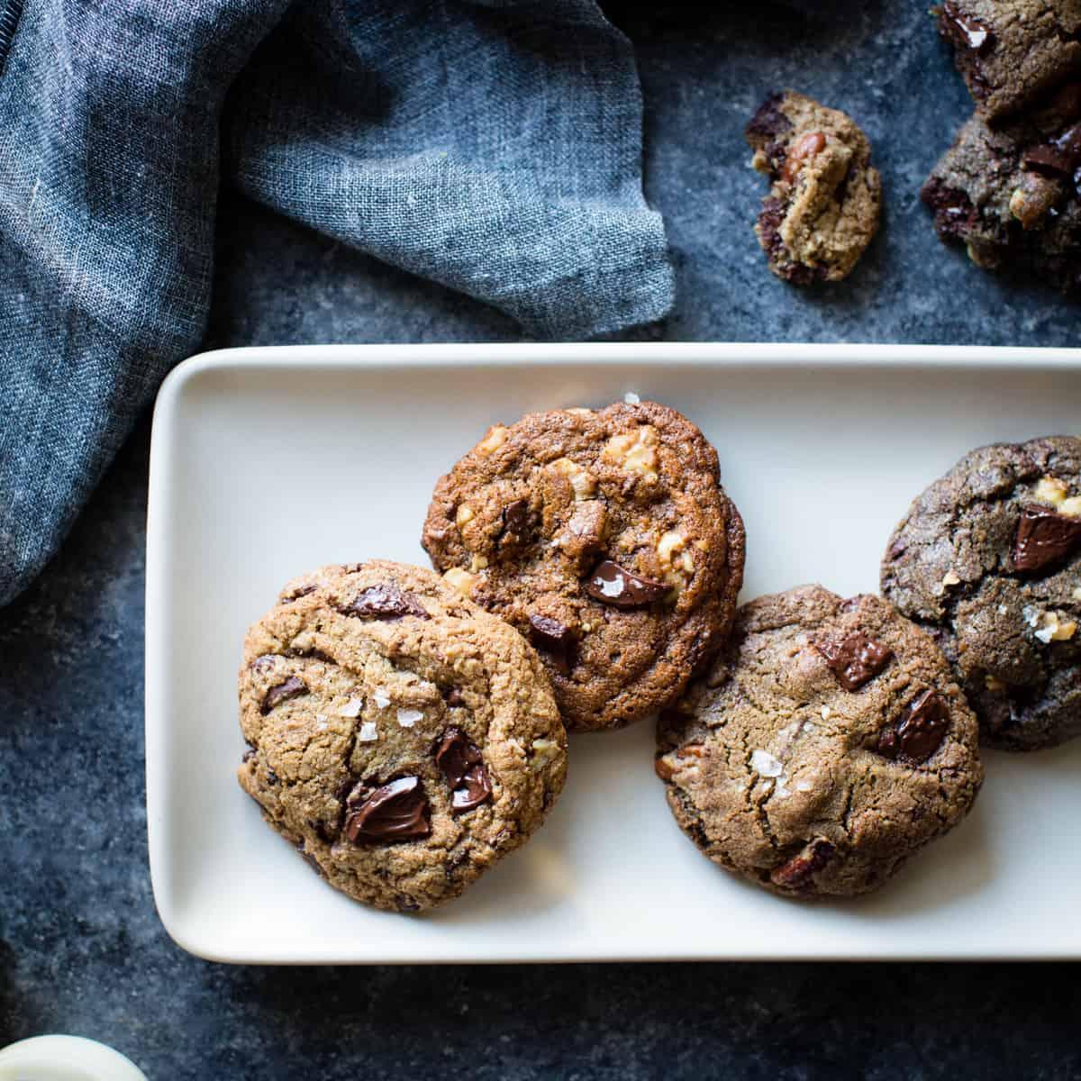 Gluten-Free Chocolate Chip Cookies on dish