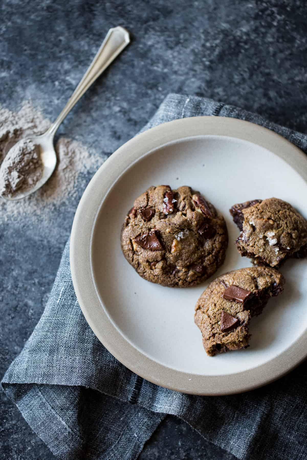 Gluten-Free Chocolate Chip Cookies Four Ways: Oat, Teff, Buckwheat, Mesquite