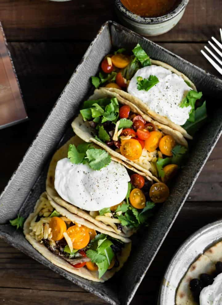 Gluten-Free Amaranth Tortillas + Vegetarian Breakfast Tacos