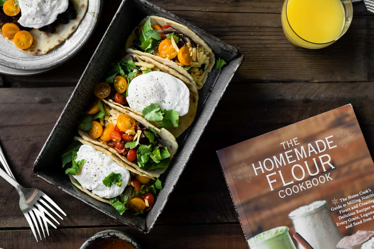 Gluten-Free Amaranth Tortillas + Vegetarian Breakfast Tacos and cook book