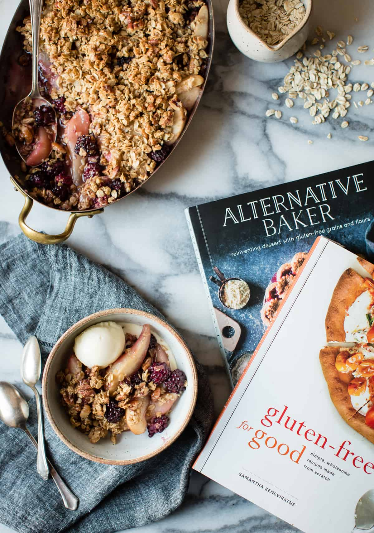 Blackberry, Pear & Ginger Crisp {gluten-free} and cook book