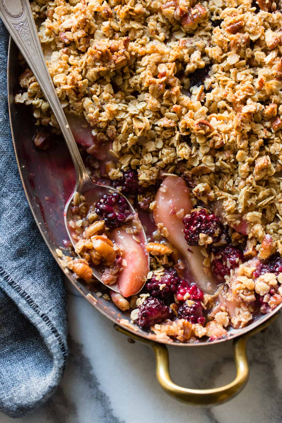Blackberry, Pear & Ginger Crisp {gluten-free}