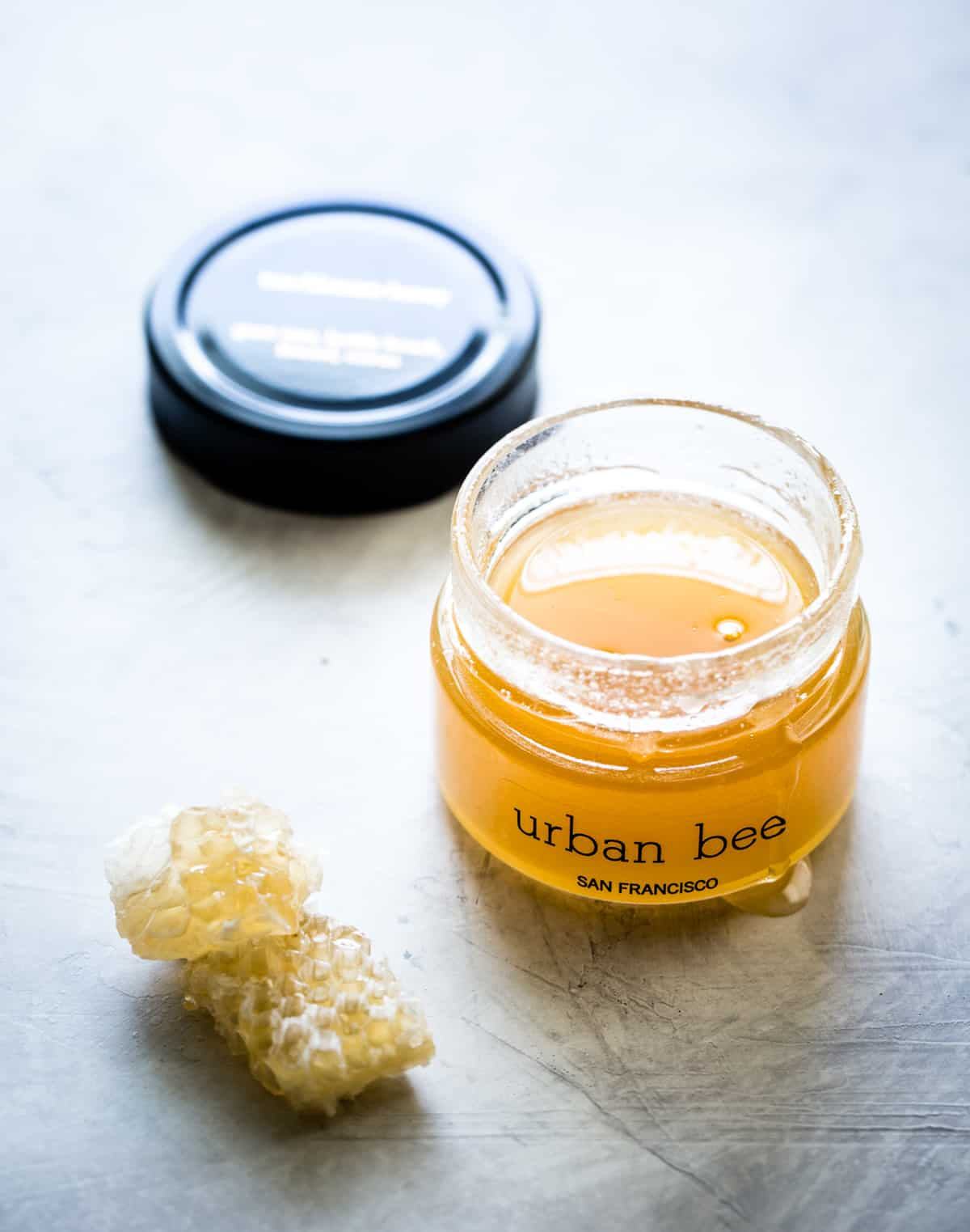jar of urban bee honey