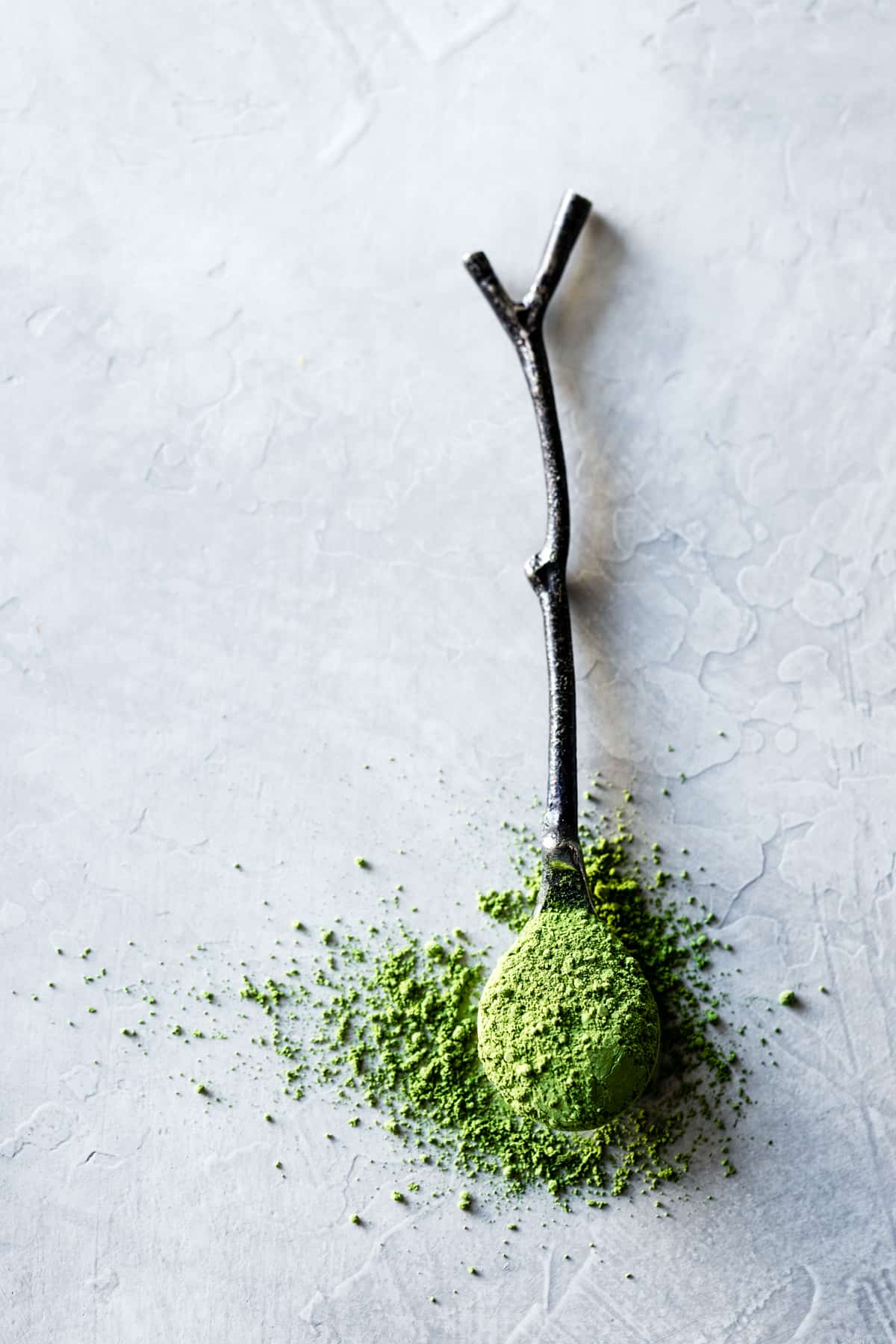 Matcha on spoon