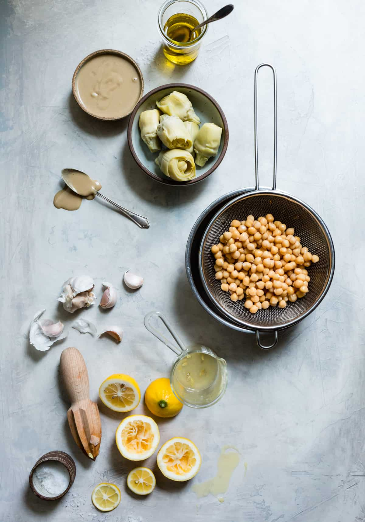 lemons and chickpeas