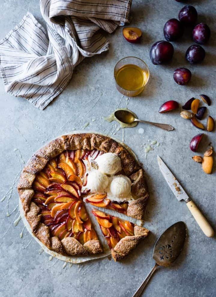 Honey Cardamom Stone Fruit Galette {gluten-free}
