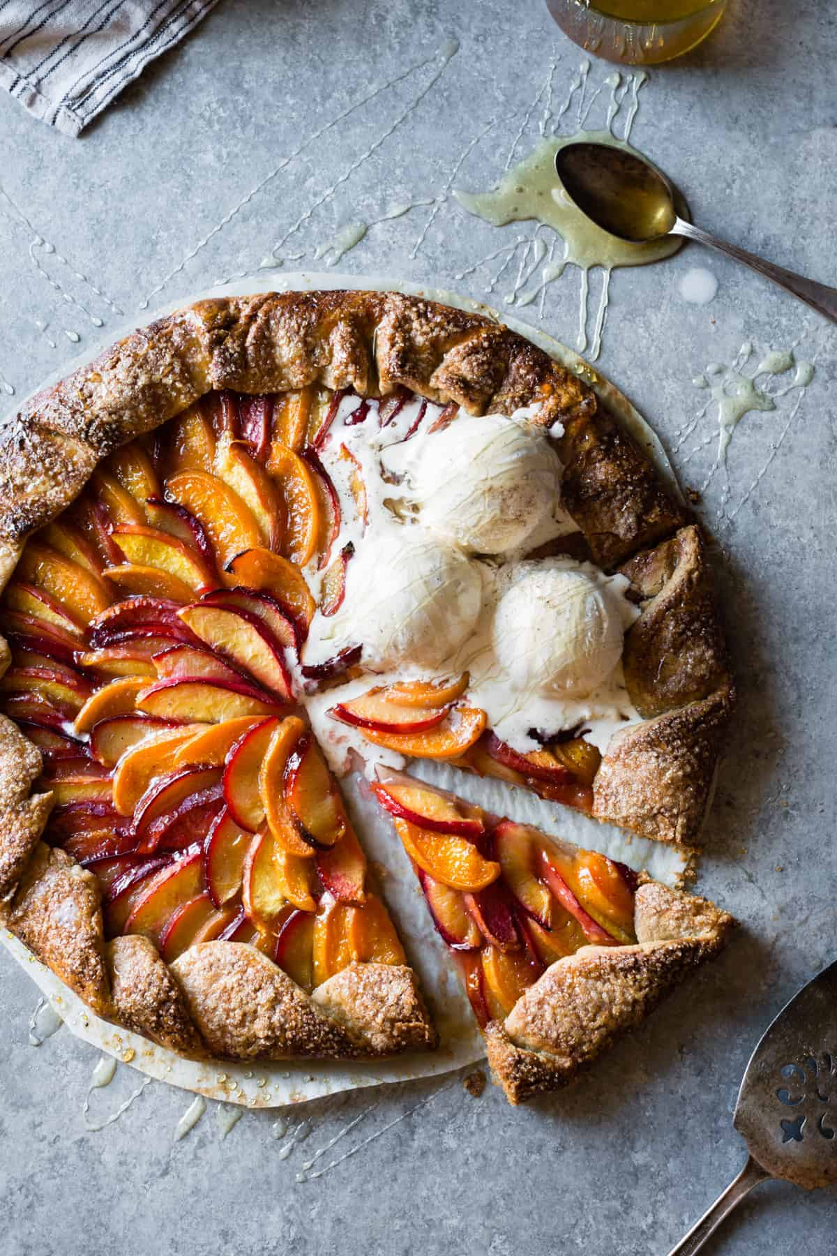 delicious Honey Cardamom Stone Fruit Galette {gluten-free}