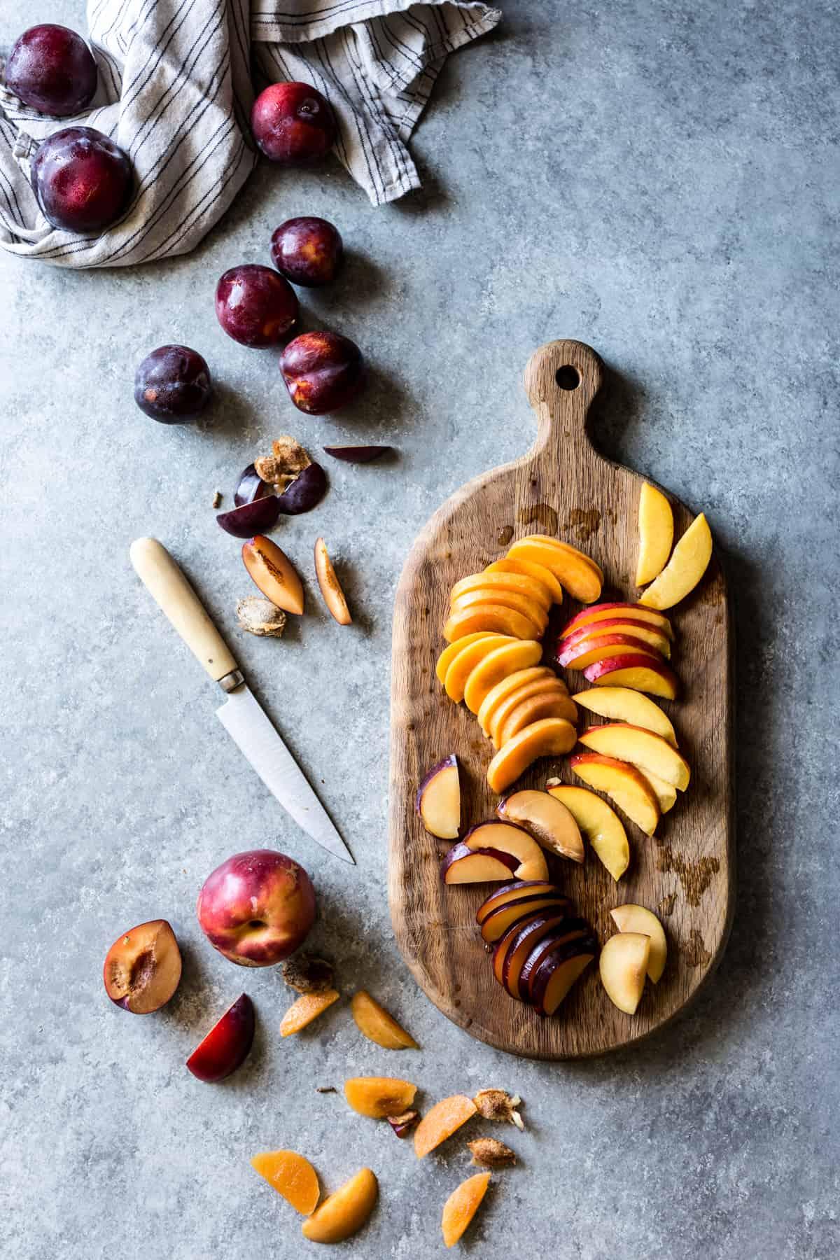 Honey Cardamom Stone Fruit Galette {gluten-free}