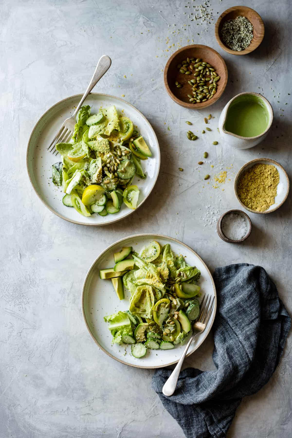 Summer Vegan Green Goddess Salad