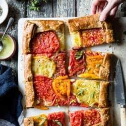 Rustic Heirloom Tomato Tart {gluten-free}