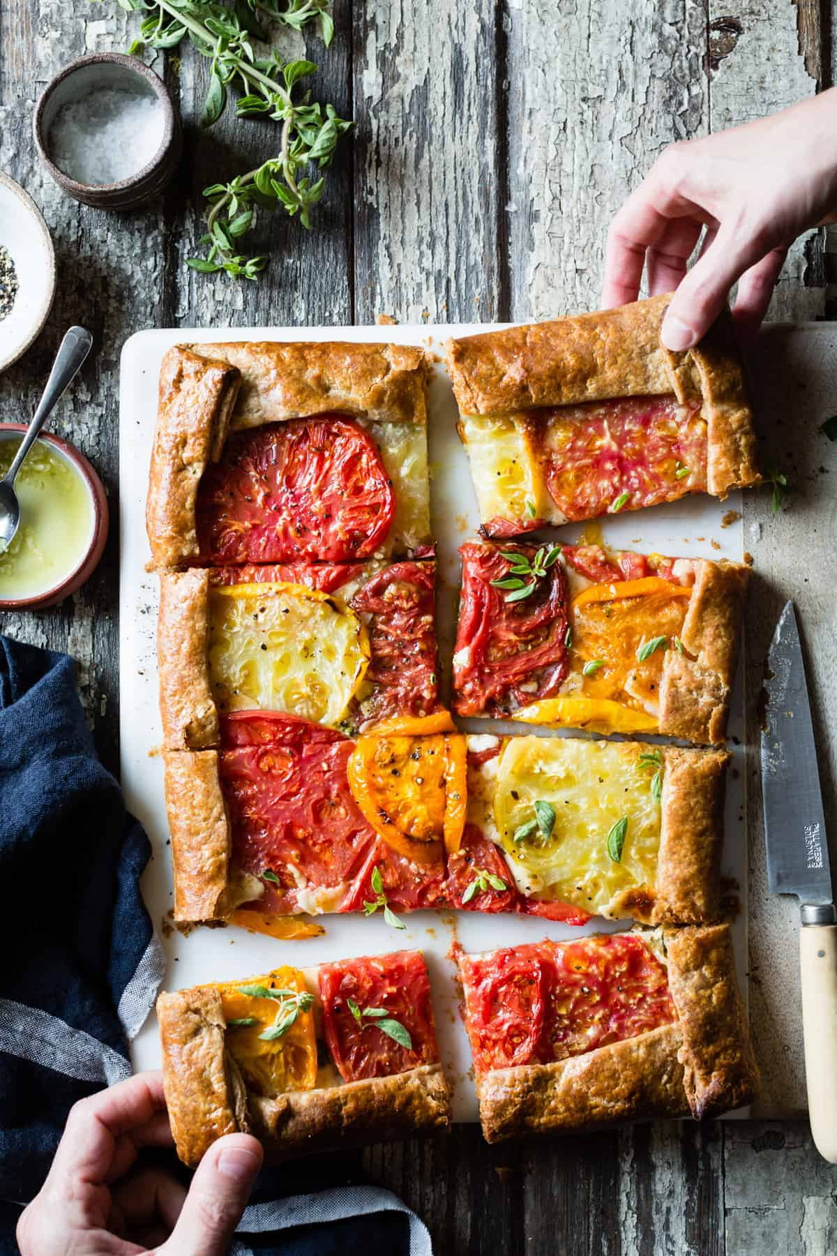 delicious Rustic Heirloom Tomato Tart {gluten-free}