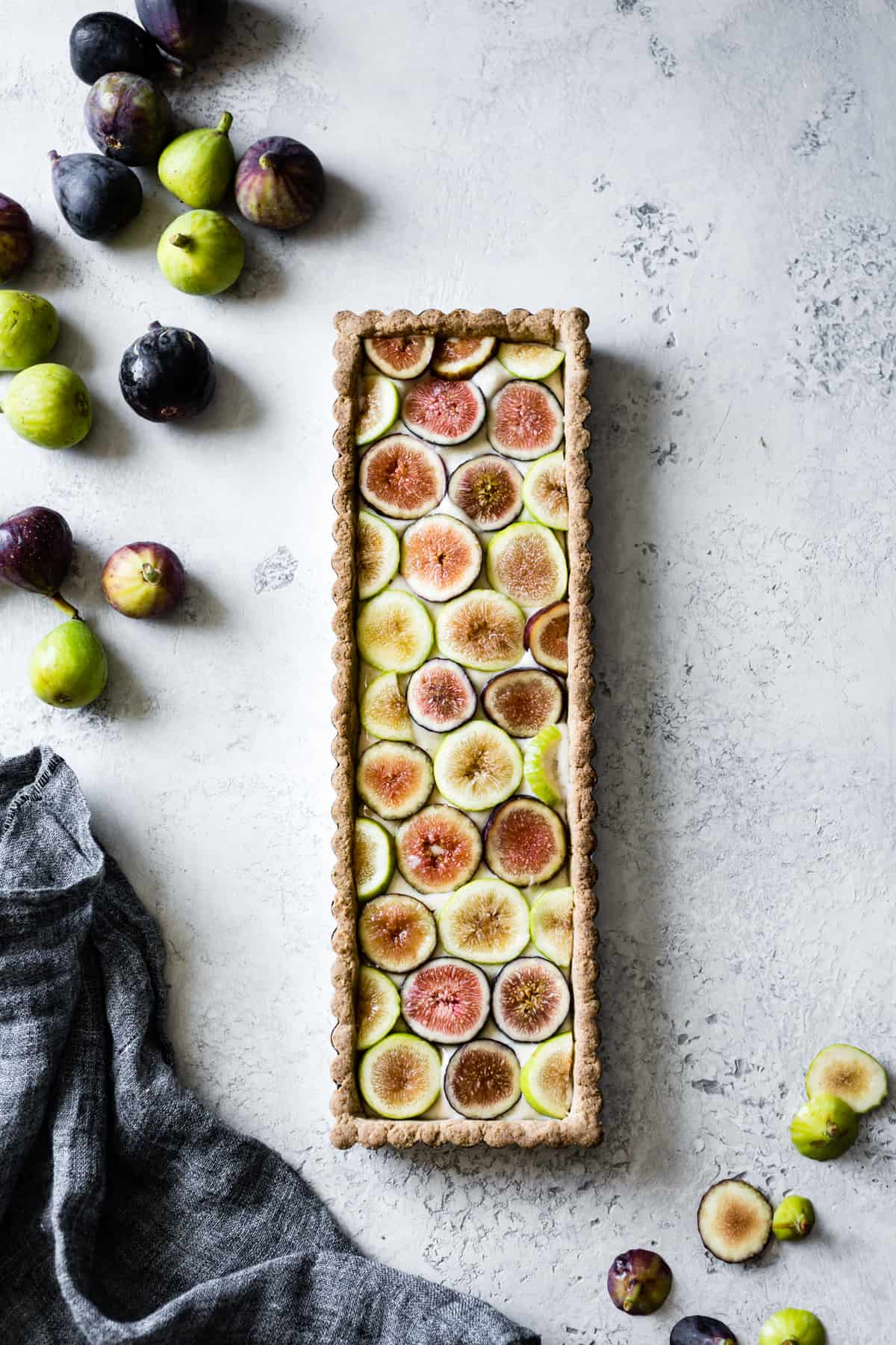 Ginger Fig Tart with Chestnut-Almond Crust {vegan & gluten-free}