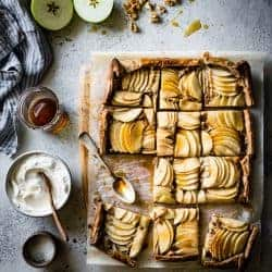 sliced Buckwheat Apple Galette with Maple Walnut Frangipane {gluten-free, refined sugar-free}