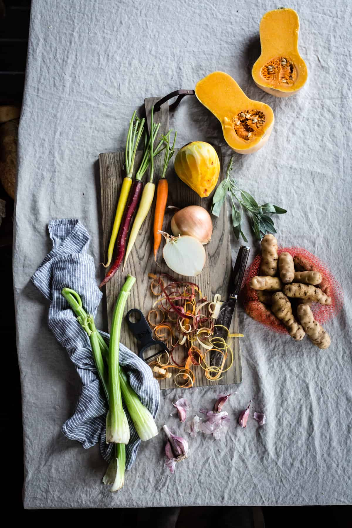 veg on table