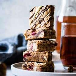 Chestnut Cranberry Blondies {gluten-free}