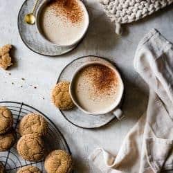 Creamy Cashew Gingersnap Lattes {vegan}