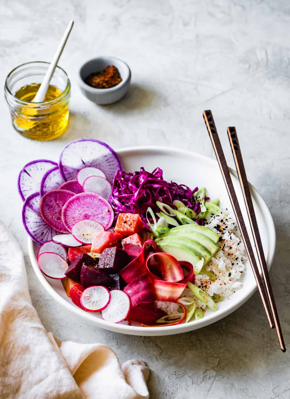 Vegan Poke Bowl Recipe with Marinated Beets