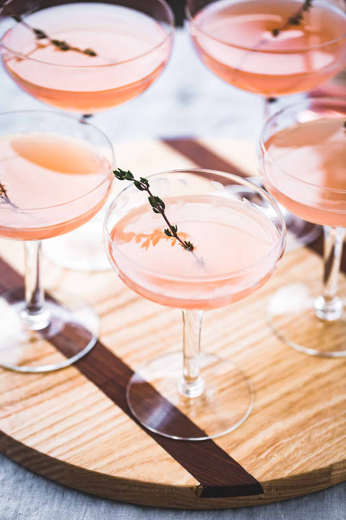 Sparkling Grapefruit, Elderflower & Rosé Vodka Cocktail