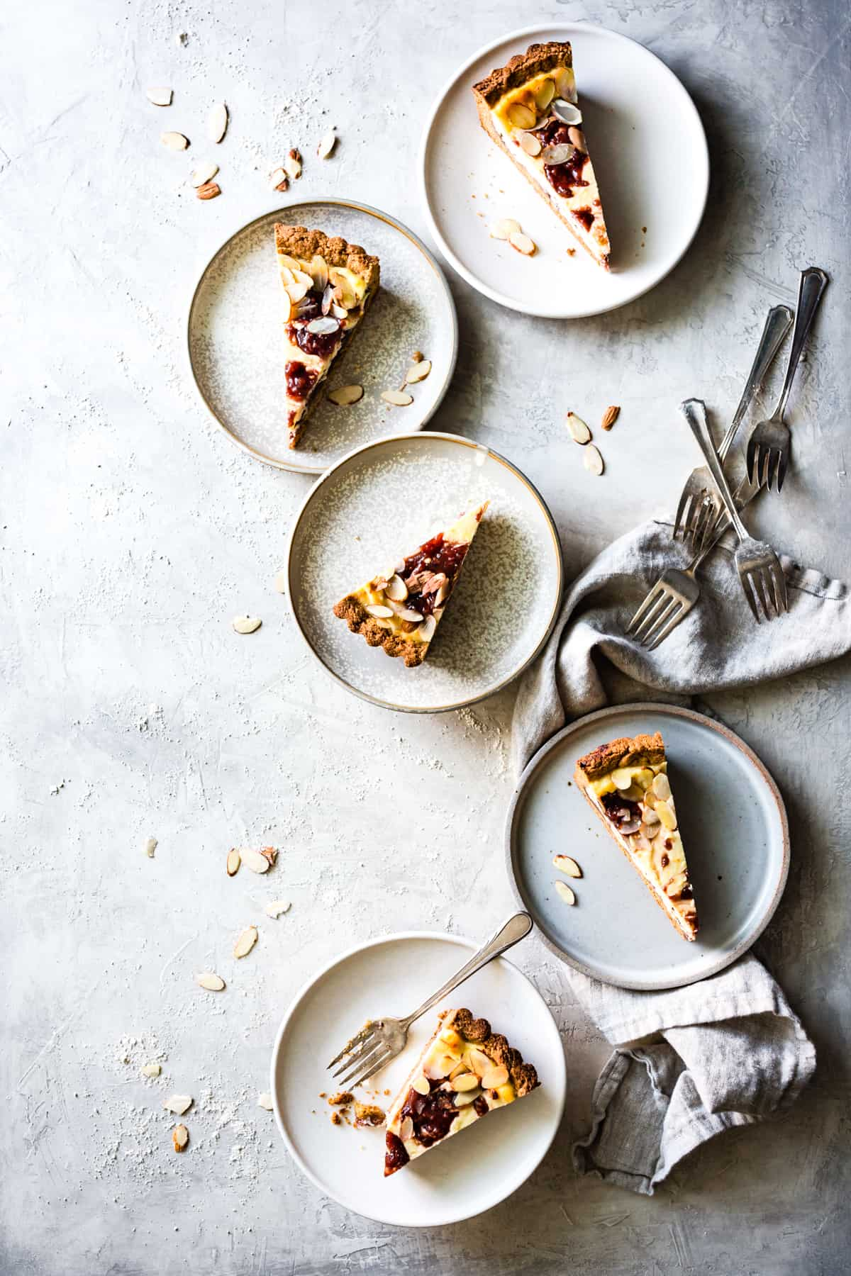 slices of Almond Crostata With Ricotta & Jam {gluten-free}
