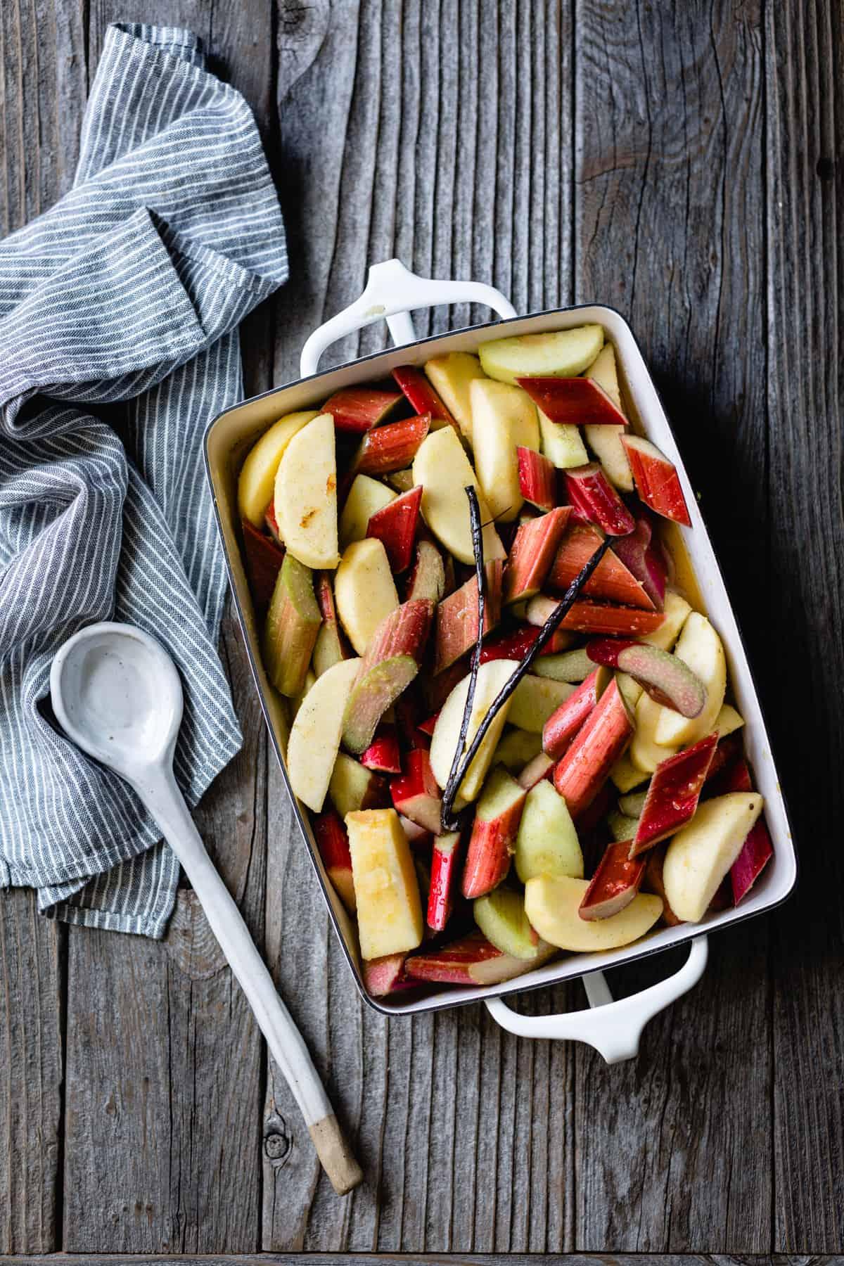 Gluten Free Apple Cobbler with Maple & Rhubarb