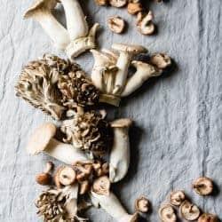 Mushroom Cheddar Dutch Baby {gluten-free}