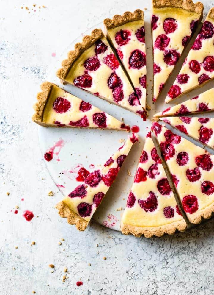 Baked Raspberry Mascarpone Tart {gluten-free}