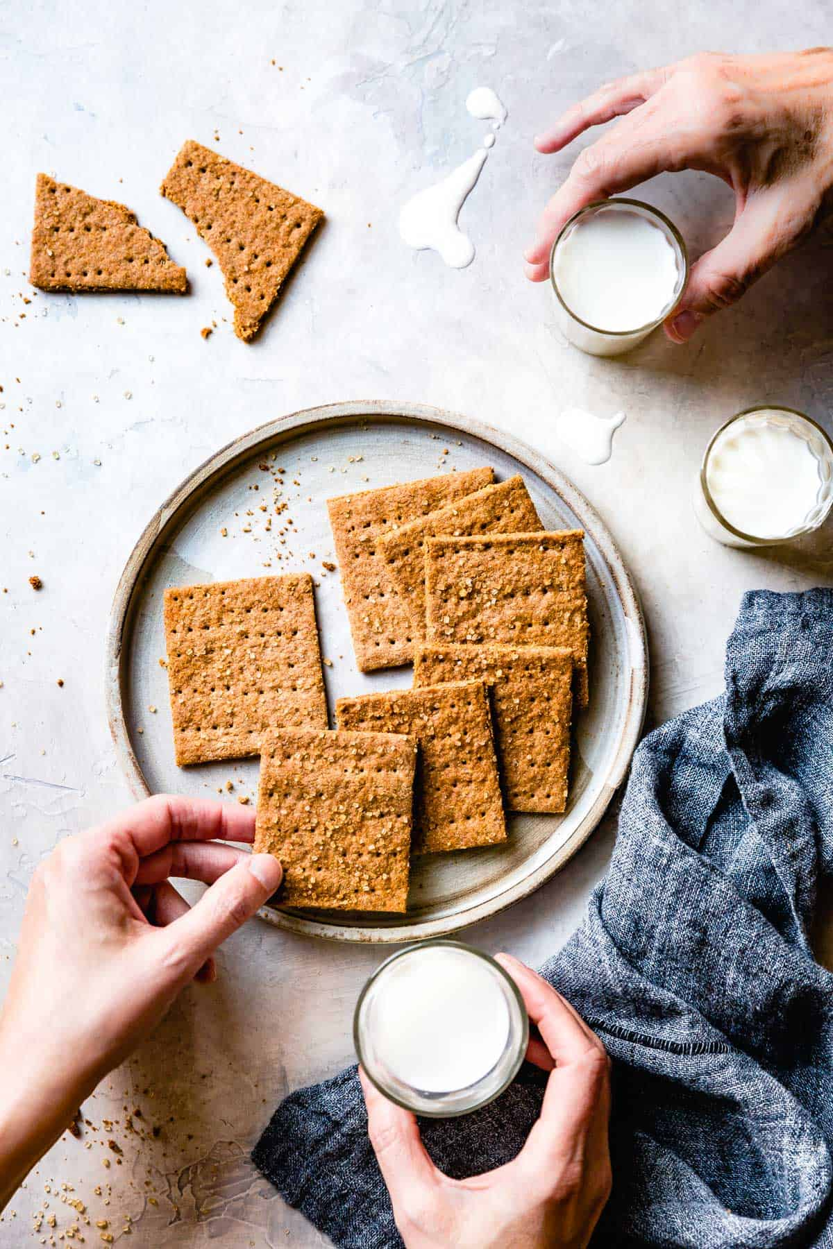 Gluten Free Graham Crackers on table