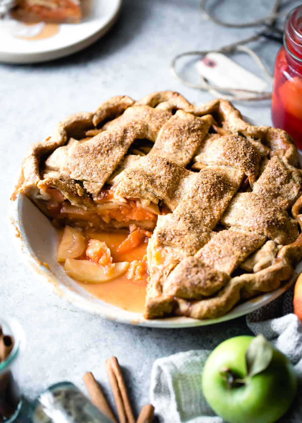Gluten Free Apple Quince Pie