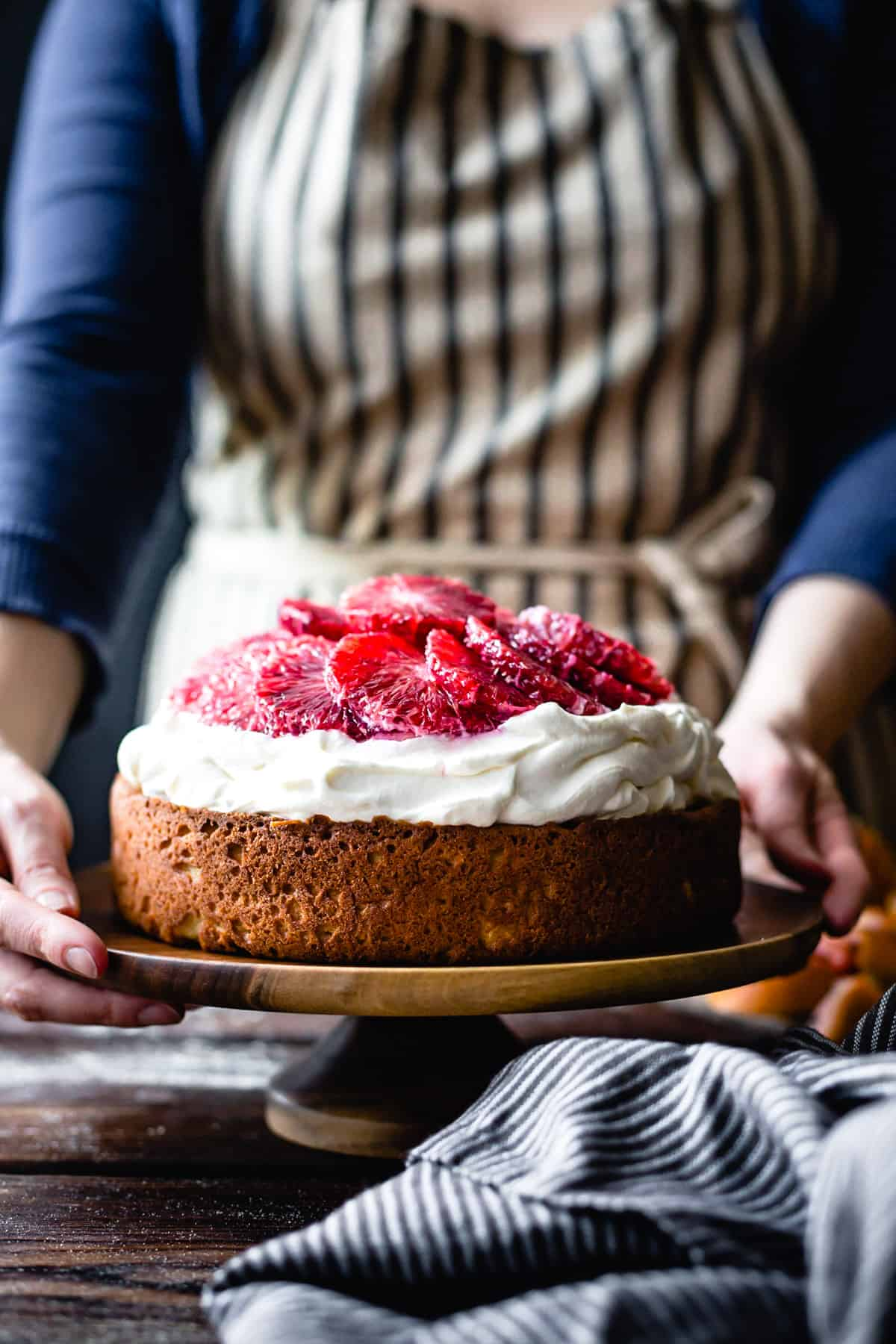 Gluten Free Blood Orange Ricotta Cake