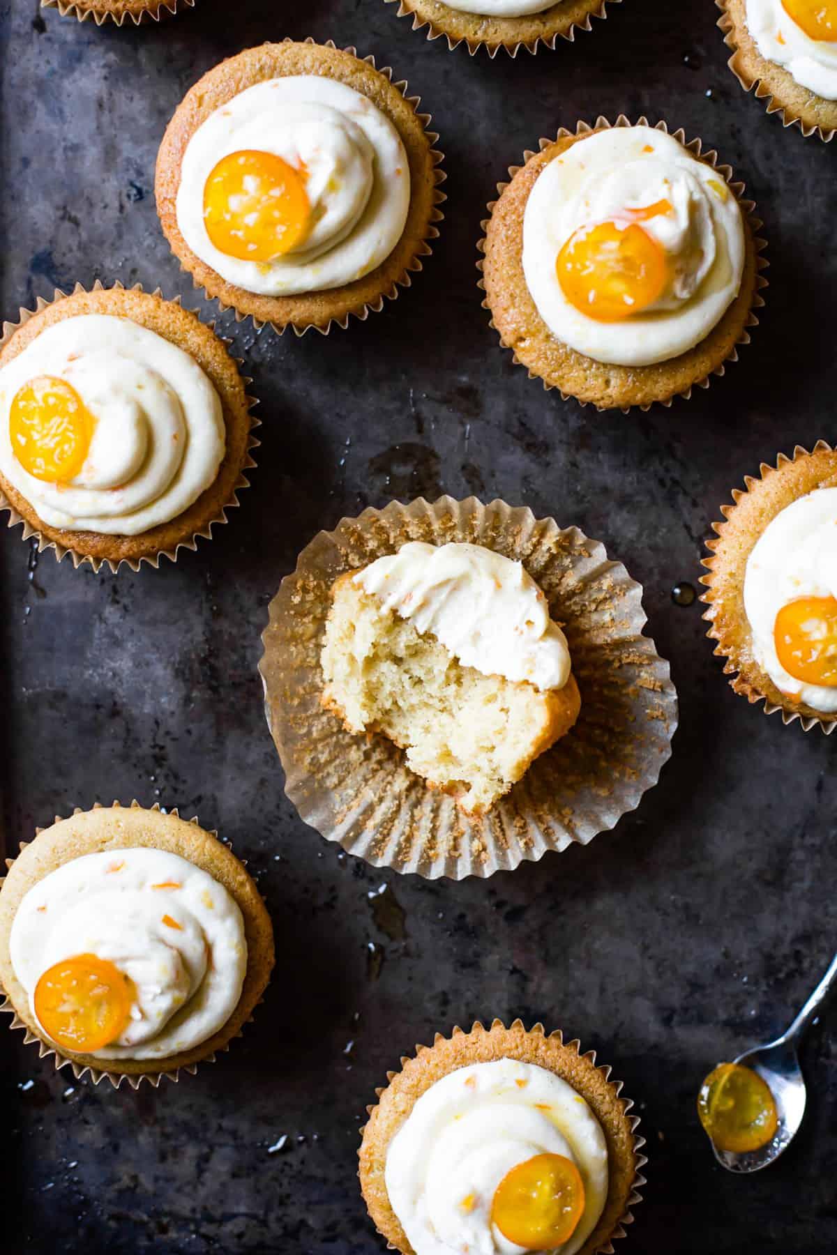 Gluten-Free Kumquat Cupcakes