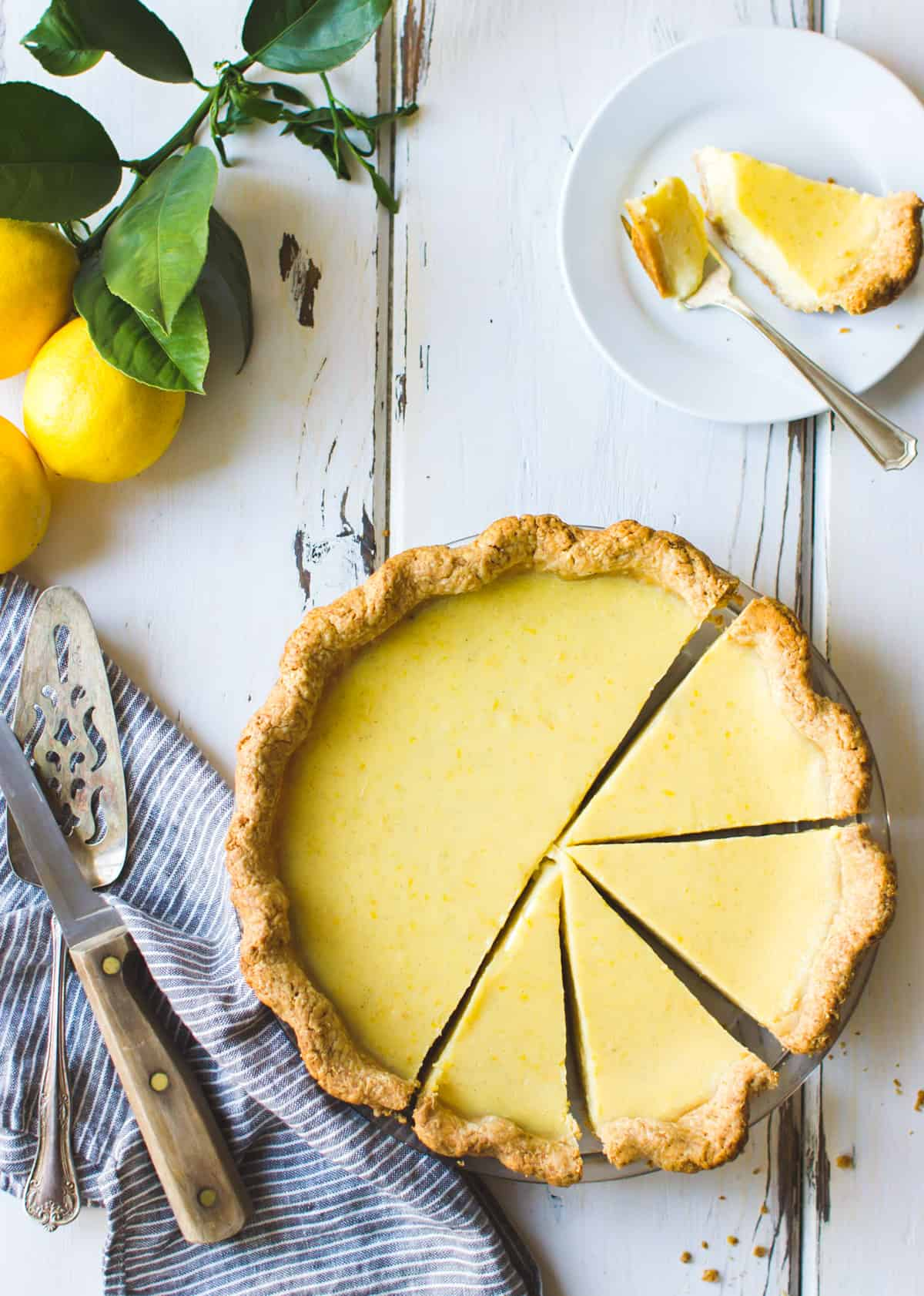Gluten Free Lemon Buttermilk Pie