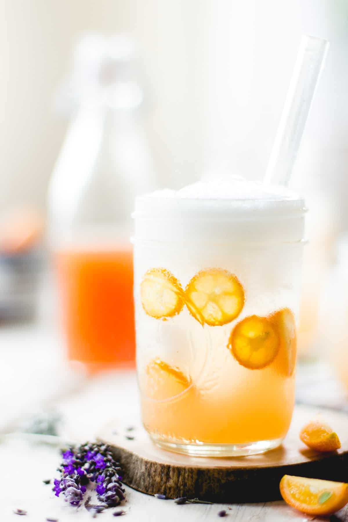 Lavender Kumquat Shrub Soda