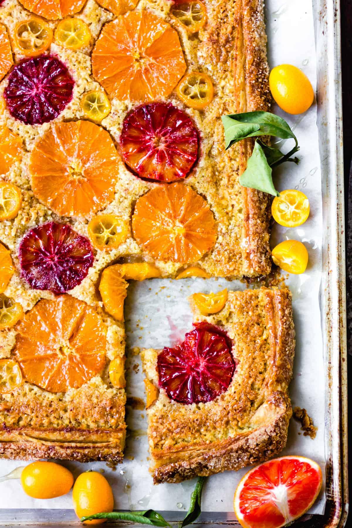 Rustic Citrus Almond Tart