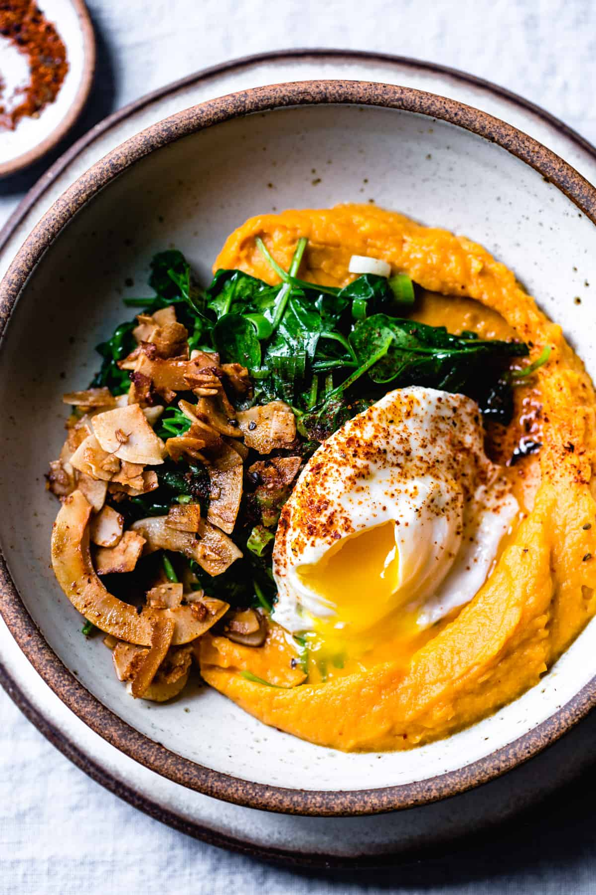 Coconut Bacon Sweet Potato Breakfast Bowl