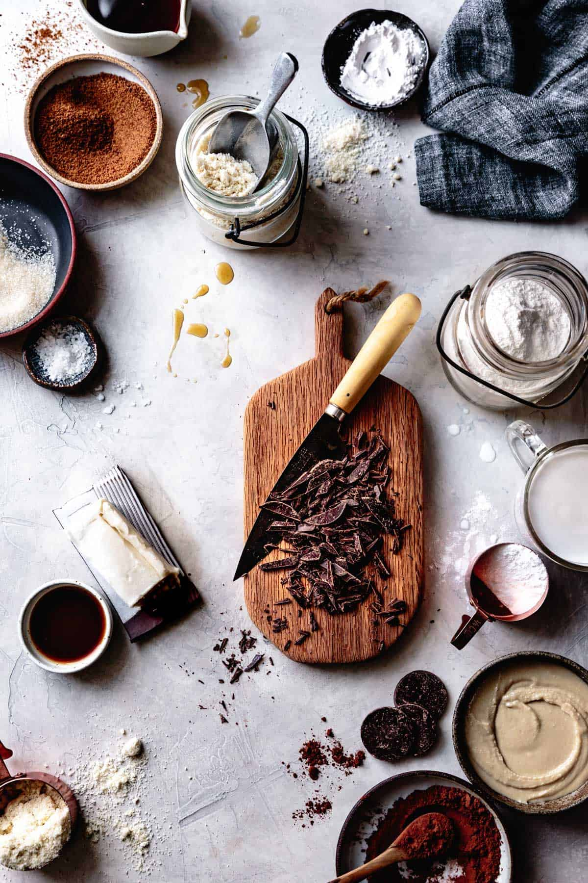 Gluten Free Vegan Chocolate Dessert Ingredients
