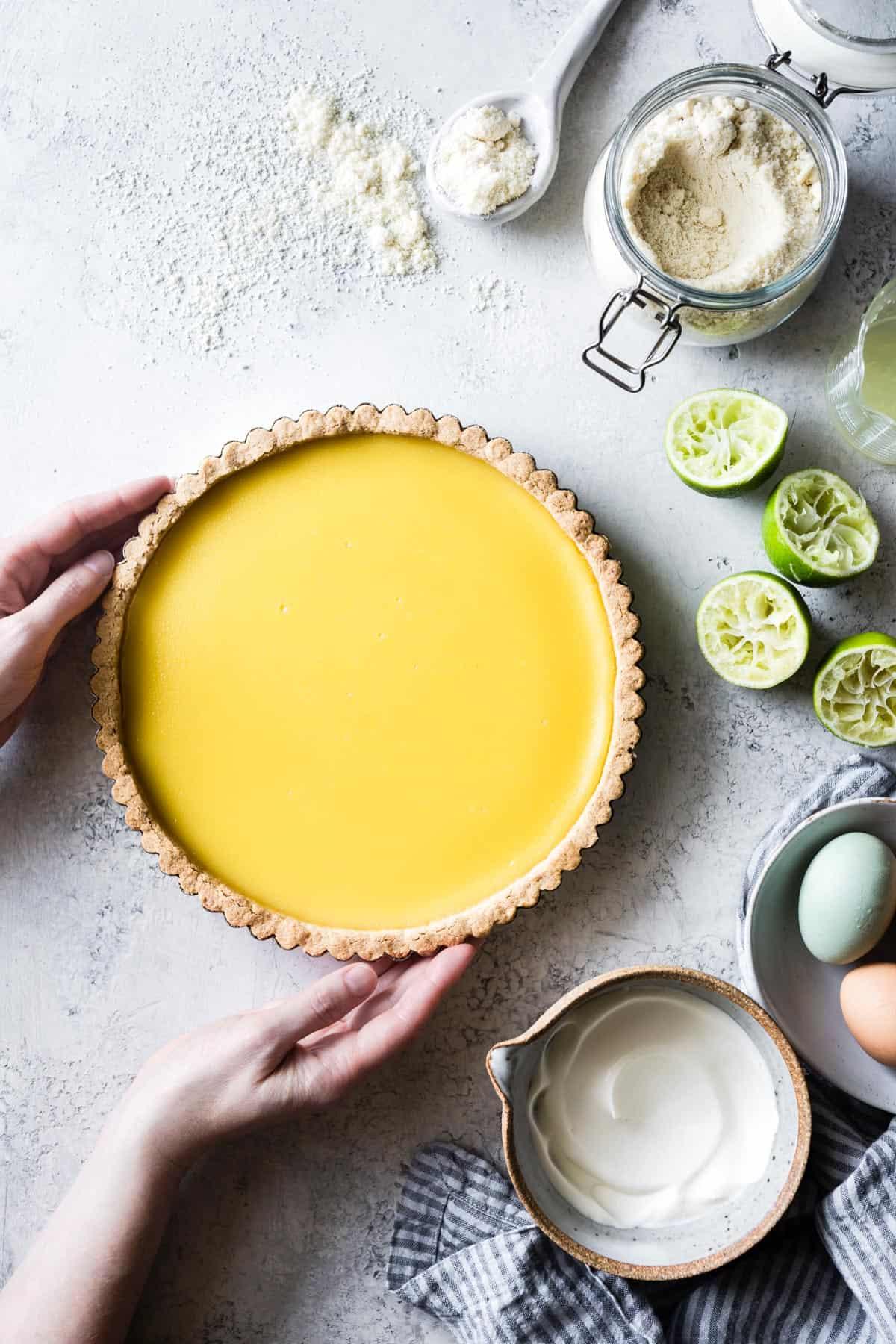 Gluten Free Lime Curd Tart