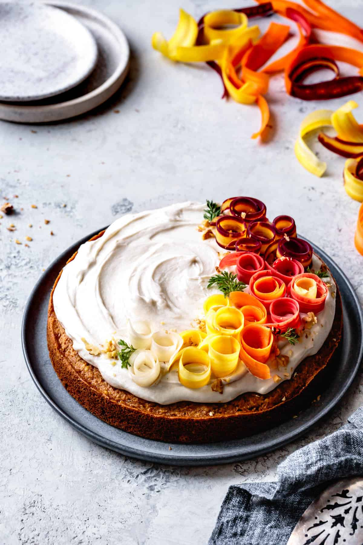 side shot Dairy Free Gluten Free Carrot Cake