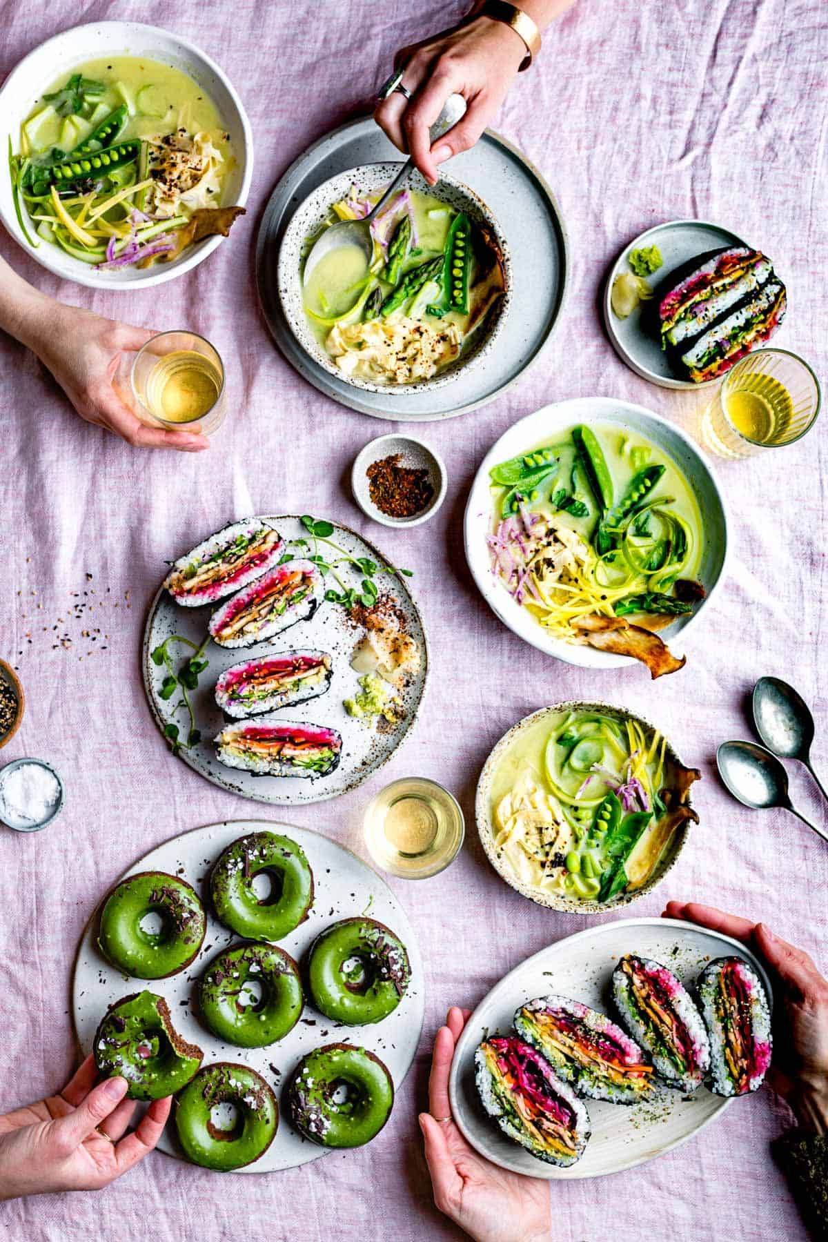 Spring Vegan Miso Soup with Yuba Gluten-Free Noodles
