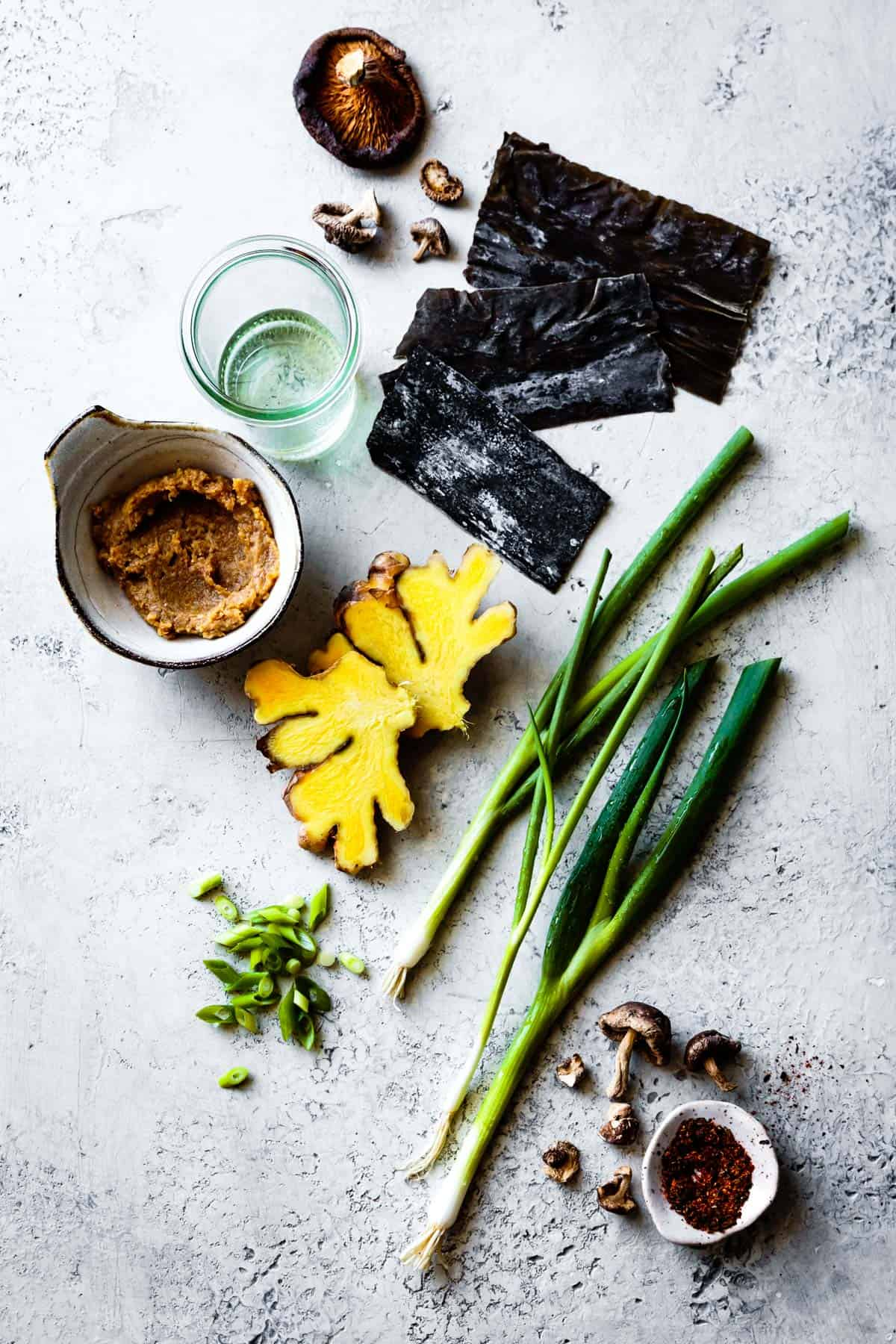 Vegan Miso Soup Ingredients