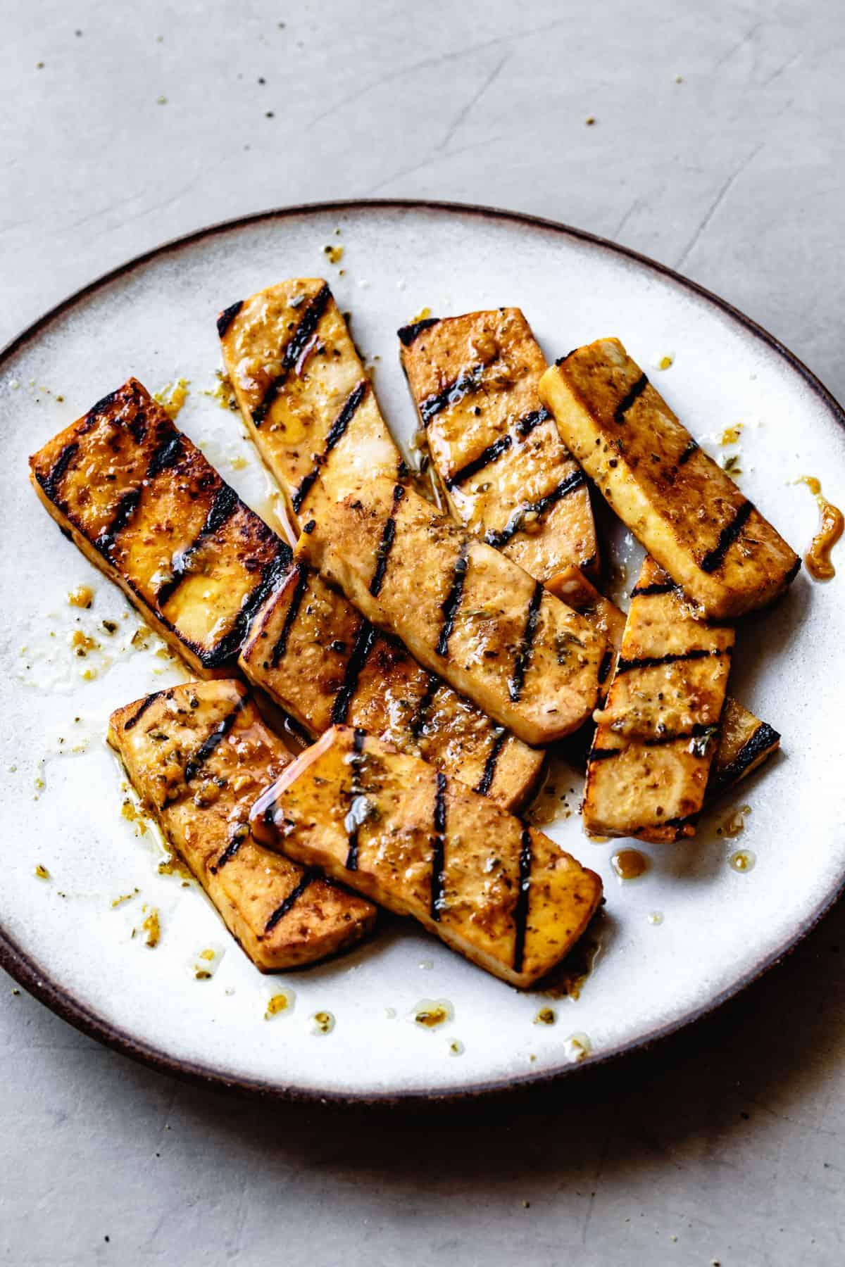 Italian-Style Marinated Grilled Tofu