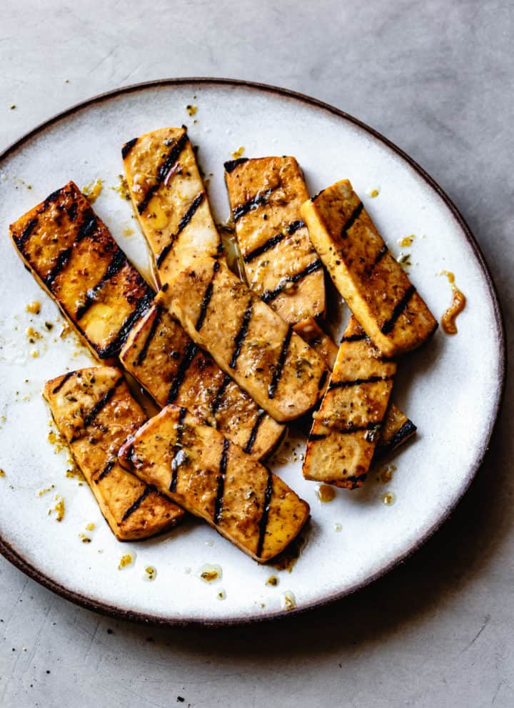 Italian-Style Marinated Grilled Tofu