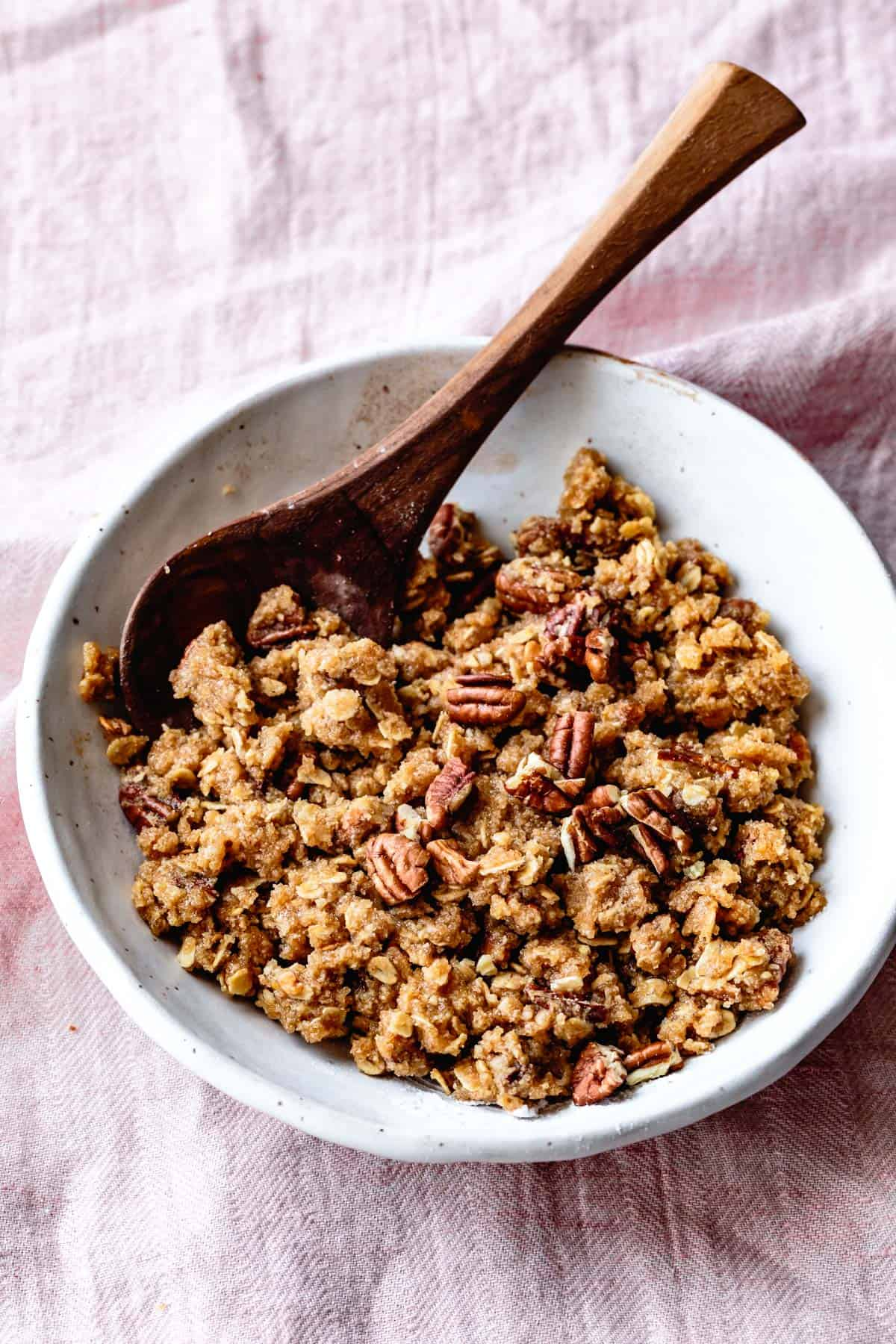Pecan almond streusel topping for Gluten-Free Coffee Cake recipe
