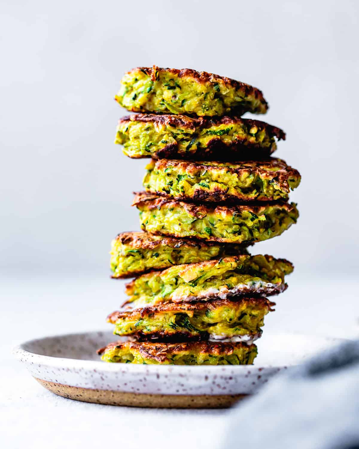 Stack of Gluten-Free Zucchini Fritters