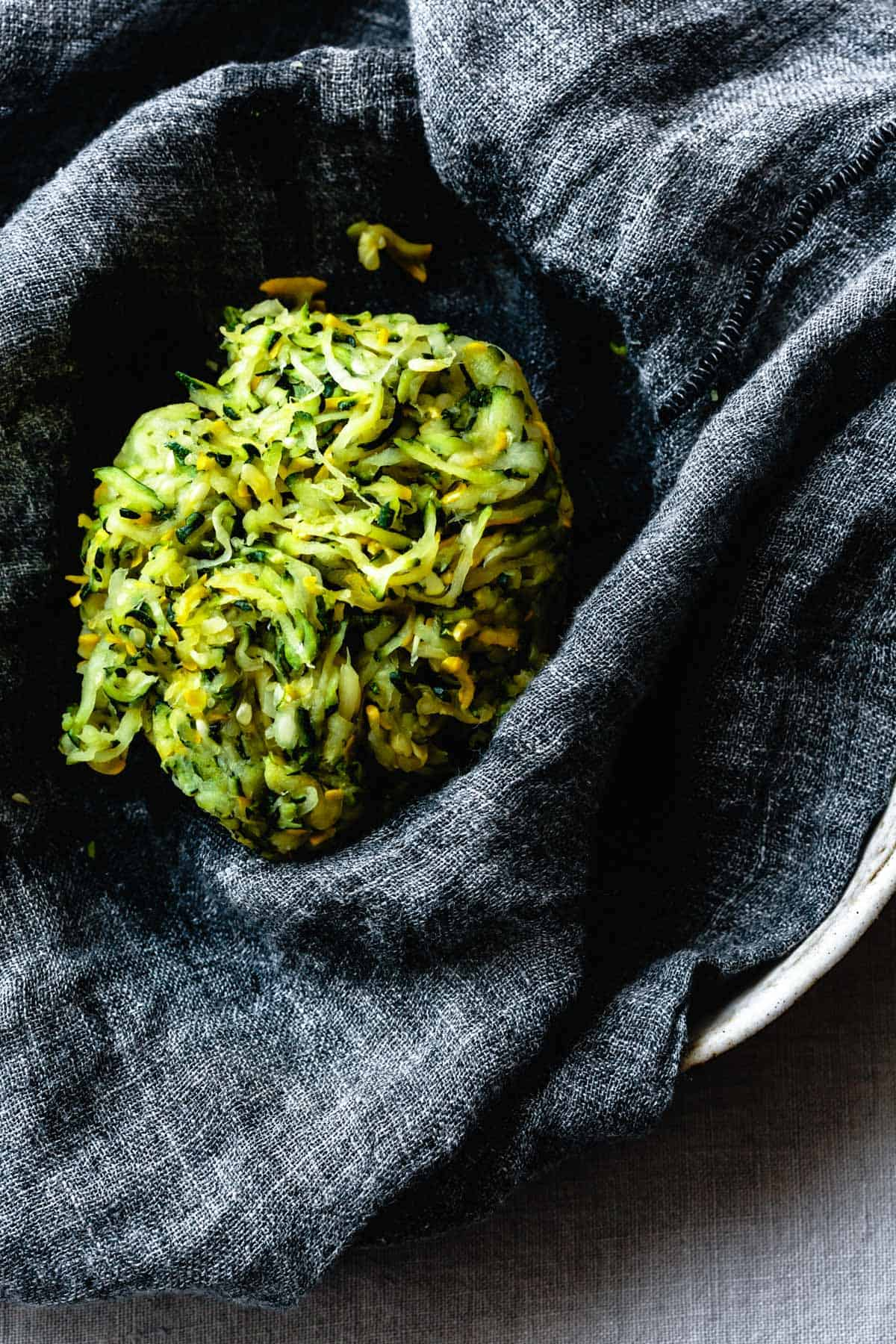 Dried shredded summer squash for Gluten-Free Zucchini Fritters