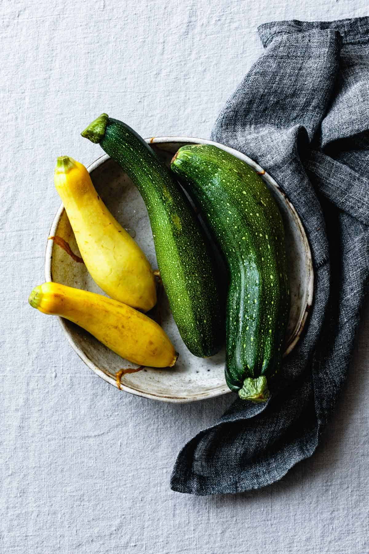 Summer squash in a bowl