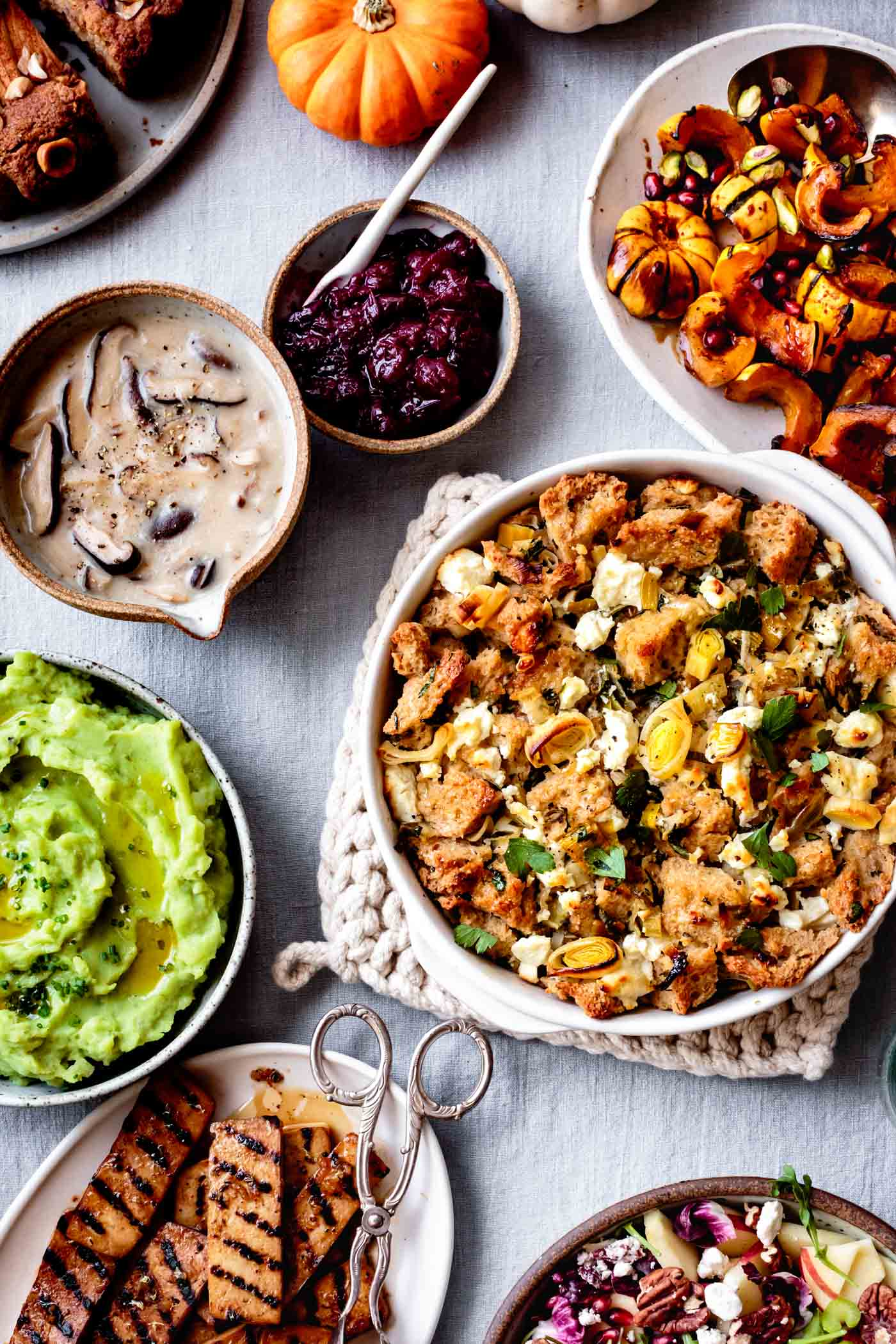 Gluten-Free Thanksgiving Recipes on a table