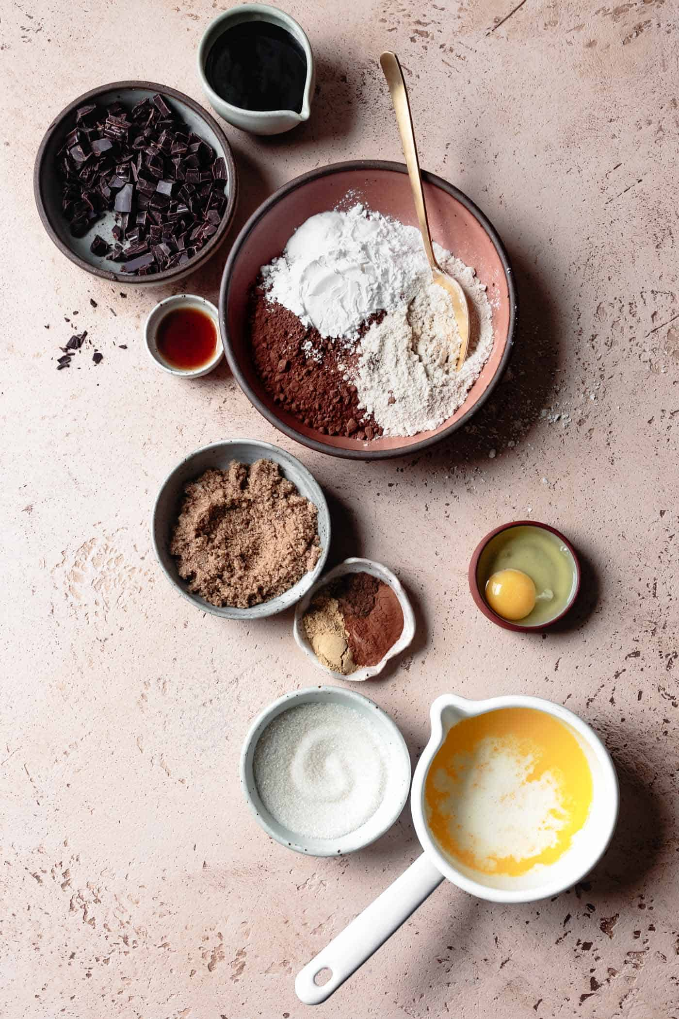 Ingredients for Gluten-Free Chocolate Ginger Cookie recipe