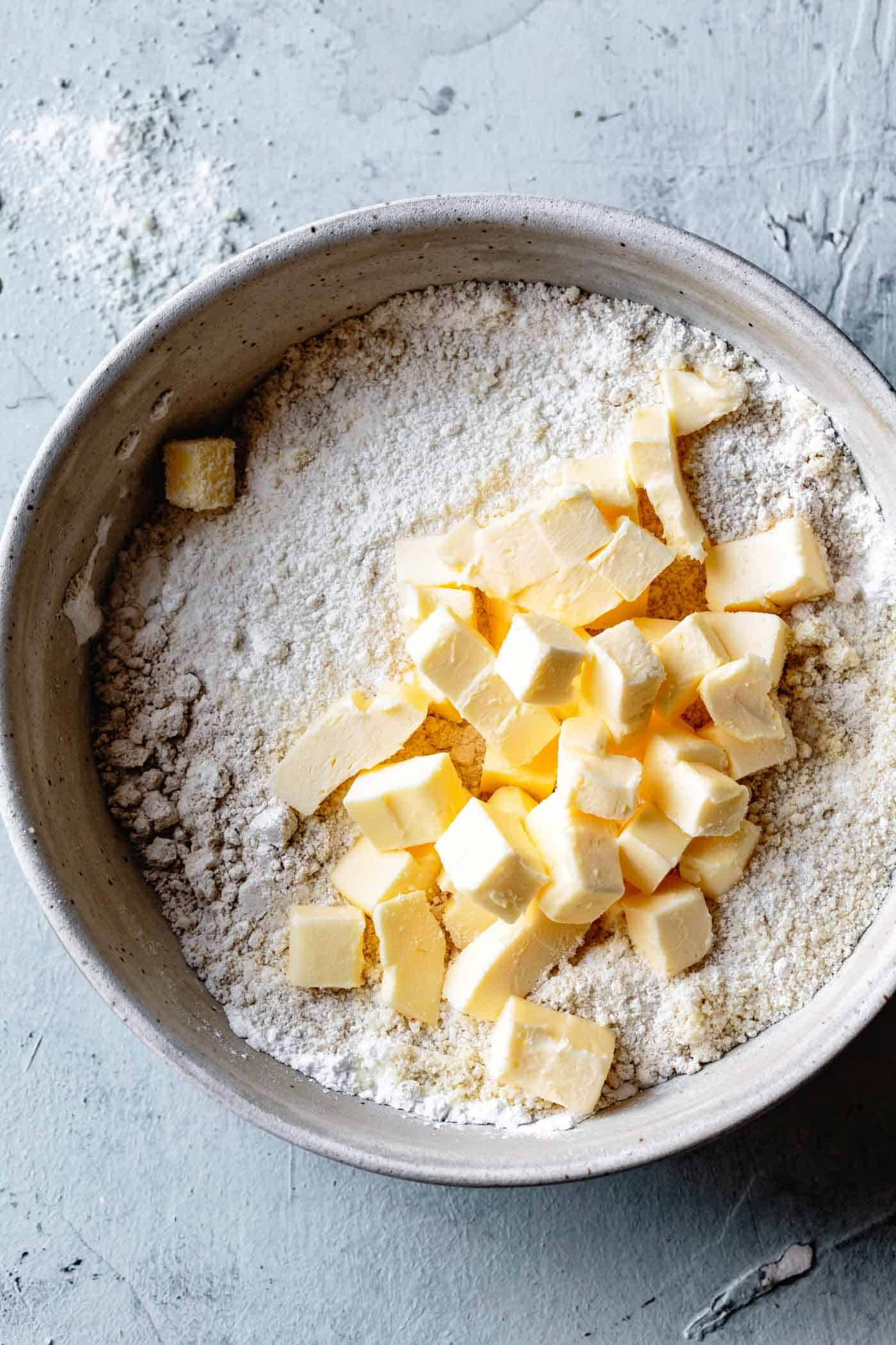 ingredients for gluten-free shortbread crust with almond flour