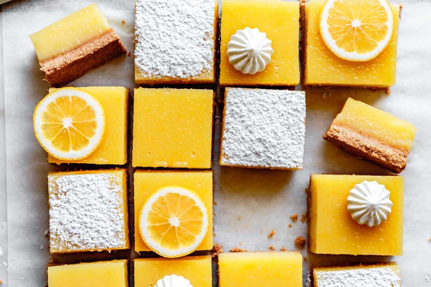 Gluten-free lemon bars with almond flour crust