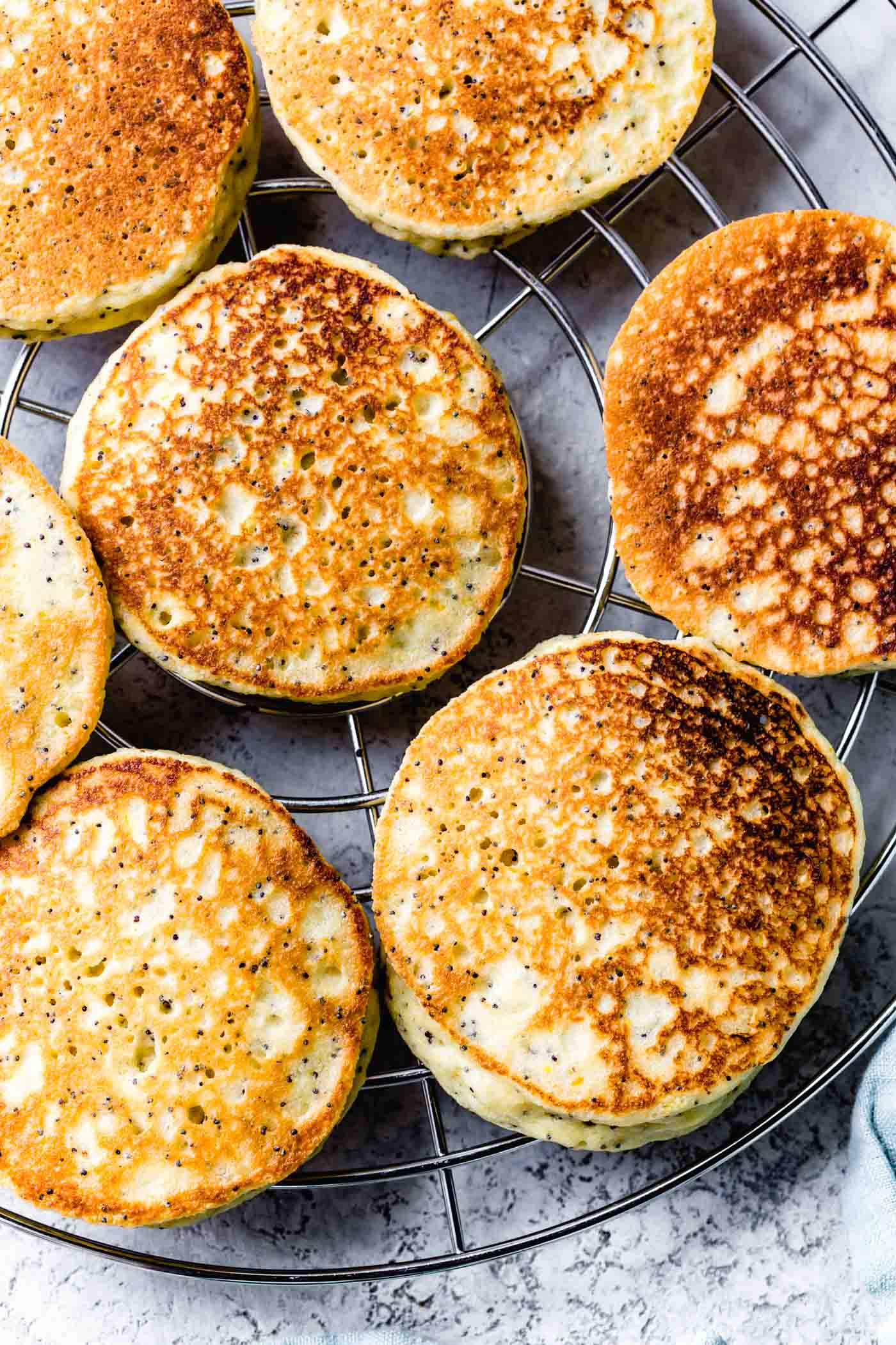 Low-carb almond flour pancakes fresh out of the pan